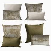 Pillows by Restoration Hardware Velvet Oushak Collection in FogMoss
