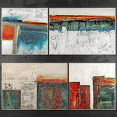 Paintings abstract | set 416