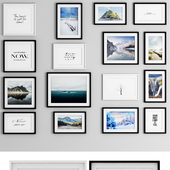 Photo Frame Set 30 (16 Frame Wall Collection)