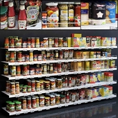 Showcase 005. Canned food, cereals, flour