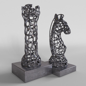 """Figurine from wire """"Rook and Horse"""""""