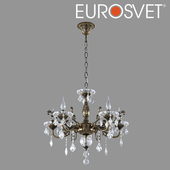 OM Chandelier with crystal Eurosvet 3281/5 bronze Elisha