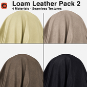 Maharam - Loam Leather - Pack 2 (4 Seamless Materials)