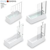 RAVAK set 54 bathtub set (10 °, Classic, Chrome, Campanula II)