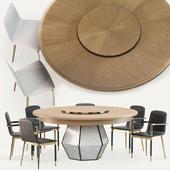 Baker  Folio chair & Bezel dining table