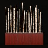 Декор из бамбука с галькой / Bamboo decor pebble