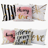 Loft concept - Decorative Pillows set 4