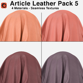 Maharam - Article Leather - Pack 5 (4 Seamless Materials)