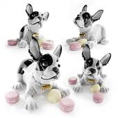 French Bulldog with Macarons Dog Figurine