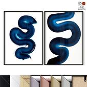 "Poster Set ""Blue Swirl"""