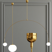 large arched ceiling light