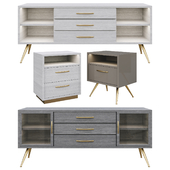 Chest and nightstand set