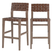 RH Vero Leather Barstool
