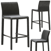 Coco Republic Brera Leather Barstool