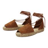 Lace up Espadrilles Alma Brown Sandals