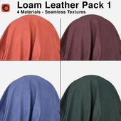 Maharam - Loam Leather - Pack 1 (4 Seamless Materials)