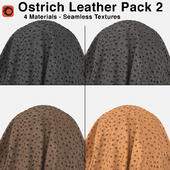 Edelman - Ostrich Leather - Pack 2 (4 Seamless Materials)