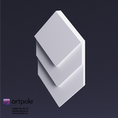 Artpole Elementary FRANK gypsum 3D panel