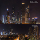 Night view of Moscow City. 25k