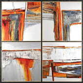 Paintings abstract | set 420