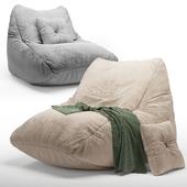 Frameless Soft Beige Pie Chair