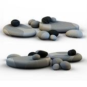 Напольные подушки камни кресла SMARIN 3