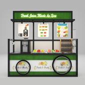 Self-service fruit juice cart