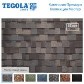 Seamless texture of flexible tiles TEGOLA. Premium Series. Master collection