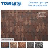 Seamless texture of flexible tiles TEGOLA. Premium category. Castello Collection