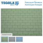 Seamless texture of flexible tiles TEGOLA. Premium category. Aktiruf Collection