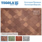 Seamless texture of flexible tiles TEGOLA. Premium category. Versailles Collection