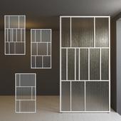 Стеклянная перегородка дверь 29