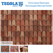 Seamless texture of flexible tiles TEGOLA. Premium category. Master Coppo Collection