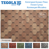 Seamless texture of flexible tiles TEGOLA. Category Business Plus. Super line. Mosaic Collection