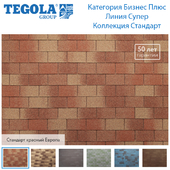 Seamless texture of flexible tiles TEGOLA. Category Business Plus. Super line. Standard Collection