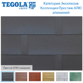 Seamless texture of flexible tiles TEGOLA. Category Exclusive. PRESTIGE ALU Series aluminum