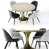 Eichholtz Cooper Dining Chair and Melchior Table