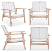 Zuo South Port Arm Chair White Wash White