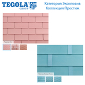 Seamless texture of flexible tiles TEGOLA. Category Exclusive. Prestige Series