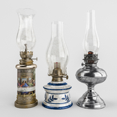 Set of old lamps