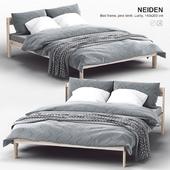 Ikea NEIDEN Bed frame, pine birch, Luröy
