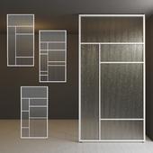 Glass partition door 30