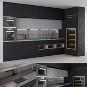 Kitchen Modern Wood and Gray