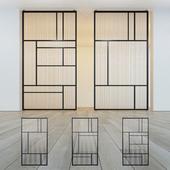 Glass partition door 27