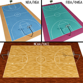 Basketball Court (NBA / FIBA / NCAA)