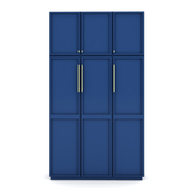 blue wardrobe