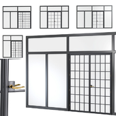 Steel door. Partition Set 3