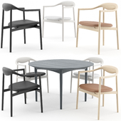 Jari Chair and Round Table by BRDR Kruger