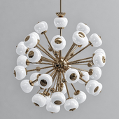 Italian Brass & Glass Sputnik Chandelier