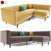 Chelsea Curve Lounge Chaise Sofa
